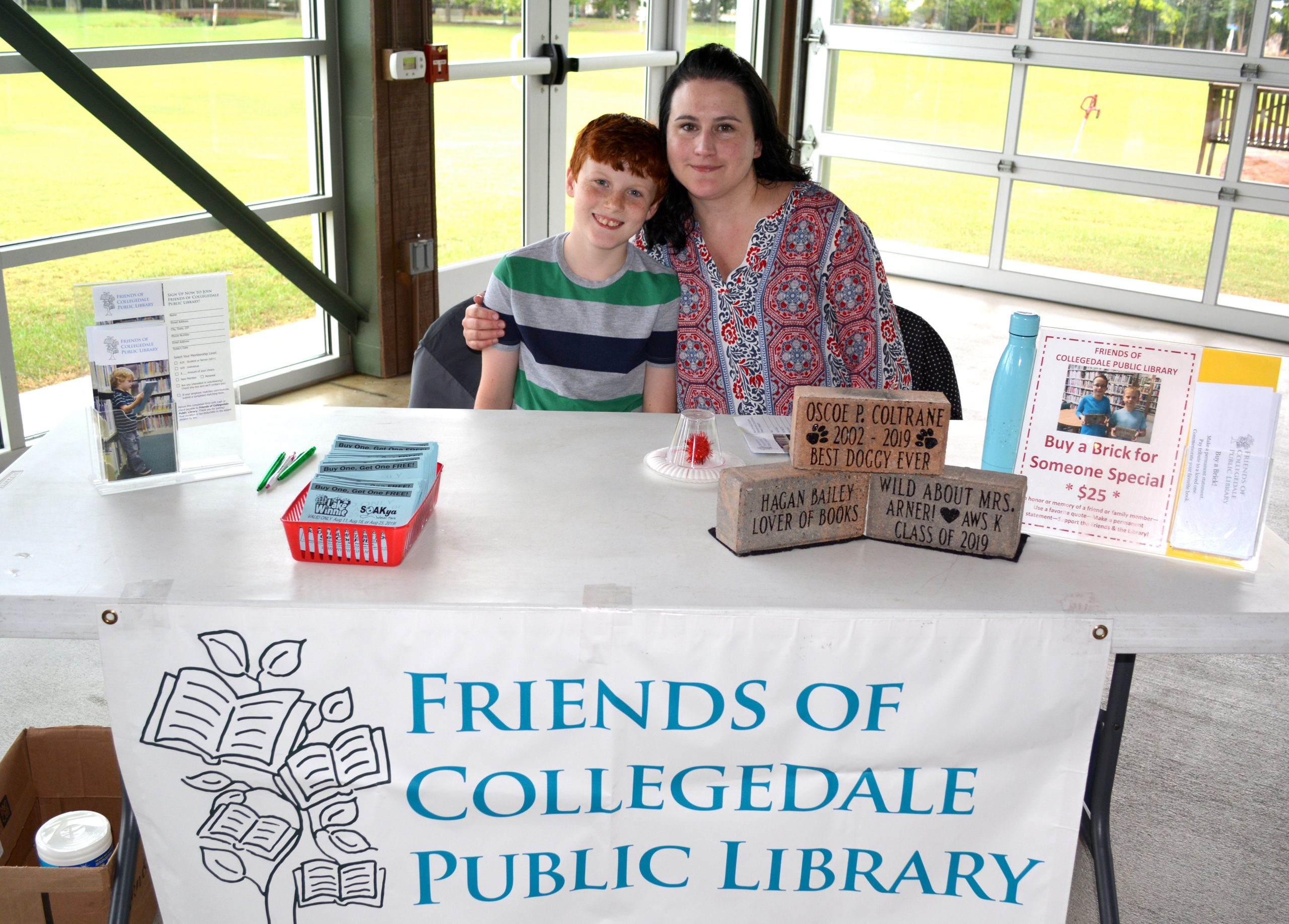 Photo of Friends of the Collgedale Public Library volunteers at a library event.