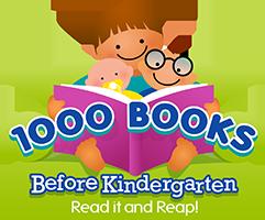 1,000 Books Before Kindergarten logo