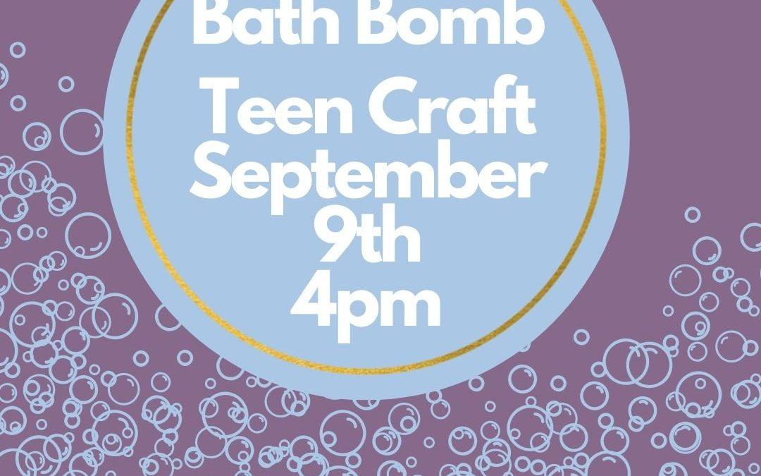 Teen Craft – Bath Bomb